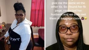 Shocking Moment Wife Confronts Cheating Man And His Girlfriend At The Airport With Mistress' Husband