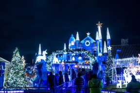 Couple Transform Their House Into Fairytale Castle With Incredible Display Of Christmas Lights