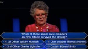 GBBO's Prue Leith Divides Who Wants To Be A Millionaire Fans After Losing £48k On 'Disastrous' Titanic Guess
