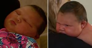 Woman Gives Birth To 'Mini Sumo Wrestler' Daughter Weighing A Whopping 13lbs