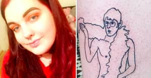 Woman Gets Tattoo Of Louis Theroux Naked On Her Leg And We're Obsessed