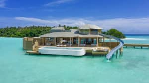 You Can Water Slide From Your Bed Into The Ocean At This Maldives Overwater Villa