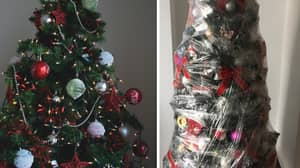 Woman Shares 'Genius' Cling Film Hack To Take Christmas Tree Down Quickly