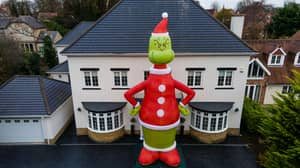 Man Orders 35-Foot Grinch That's Bigger Than His House