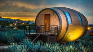 You Can Now Sleep In A Giant Tequila Barrel At Mexican Hotel
