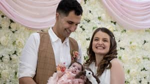 Touching Moment Sick Baby Was Bridesmaid For Parents' Wedding From Hospital Bed