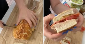 People Are Calling This Woman's Way Of Cutting Bread 'Life-Changing'