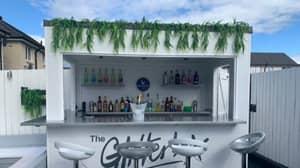 Couple Build Incredible Ibiza-Style Bar In Their Back Garden
