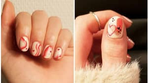 Everyone's Doing Raspberry Ripple Nails For Valentine's Day