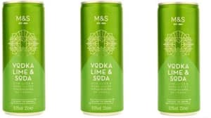 You Can Now Get Vodka, Lime & Soda In A Can From Marks & Spencer For £2