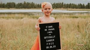 Little Girl, Four, Celebrates Beating Cancer With Photoshoot