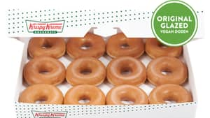 Krispy Kreme Launches First Ever Original Glazed Vegan Doughnut
