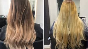 """Woman Horrified As """"Balayage"""" Gone Wrong Leaves Her Hair Steaming"""