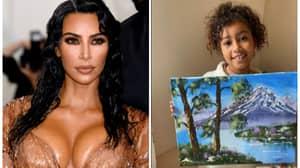 Kim Kardashian Responds To Critics Claiming North West's Super Impressive Oil Painting Is Fake