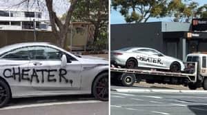 Furious Woman Spray Paints 'Cheater' Across Ex-Lover's £130K Mercedes
