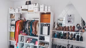 Woman Transforms 'Dingy' Bedroom Into Stunning Walk-In Wardrobe