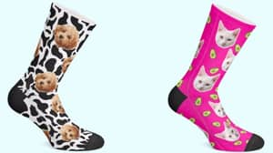 ​You Can Now Get Socks Personalised With Your Pet's Face