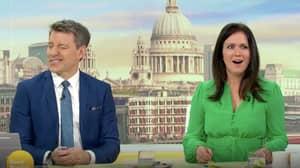 Good Morning Britain's Ben Shephard Suffers Awkward 'Nipple' Freudian Slip While Talking About Susanna Reid's Dress