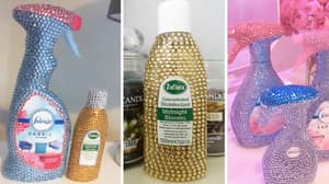 Everyone's Blinging Up Their Cleaning Bottles Out Of Sheer Boredom