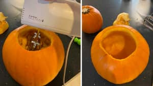 """Mum Goes Viral With """"Game Changer"""" Pumpkin Carving Hack"""