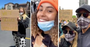 Amber Gill, Sophie Turner And Kate And Rio Ferdinand Among Celebs At Anti-Racism Protests