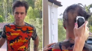 Robbie Williams Looks Unrecognisable After Shaving All His Hair Off