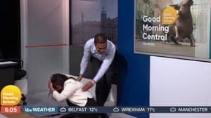 Good Morning Britain Newsreader Trips And Goes Flying Off-Screen Live On Air