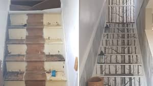 Woman Unveils Stunning DIY Stairway Transformation That Cost Her Just £40