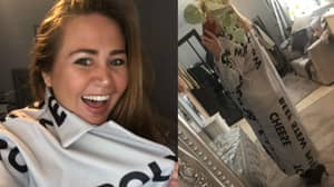 Woman Left In Hysterics As £80 Coat Arrives Emblazoned With Words From A Pub Menu