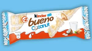 Kinder Bueno's White Chocolate and Coconut Bars Are Back In Stores From Tomorrow