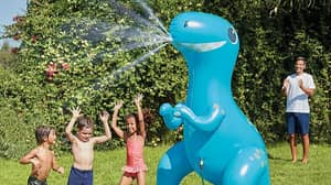Asda Is Selling A Giant 7ft Dinosaur Sprinkler That's Perfect For The Heatwave