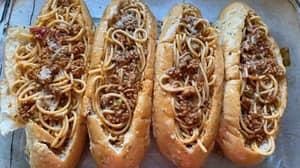 People Are Making Stuffed Spaghetti Subs