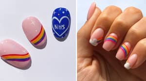 NHS Tribute Rainbow Manis Are The Uplifting Beauty Trend We Need In Lockdown