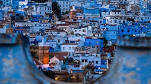 You Can Visit A Stunning Baby Blue Hilltop City in Morocco