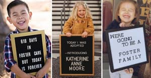 People Are Crying At These Pictures Of Kids Just After They've Been Adopted