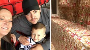 Parents Hilariously Prank Six-Year-Old Son By Wrapping Entire Kitchen In Christmas Paper