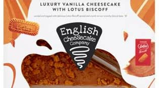 Sainsbury's Is Selling A Luxury Vanilla Lotus Biscoff Cheesecake