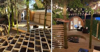 Man Turns Back Garden Into 'Love Island' Villa Replica