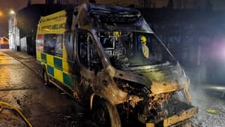 Ambulance Destroyed By Fire As Paramedics Treated Patient In Nearby House