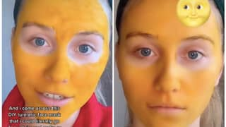 Woman's Face Goes Yellow After She Wears Turmeric Face Mask