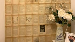 Woman Pays Tribute To Late Grandma By Decorating Home With Pages From Her Favourite Books