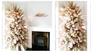 People Are Building Incredible Pampas Grass Christmas Trees