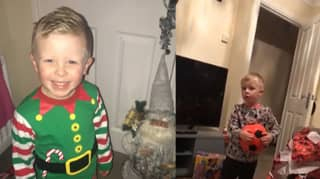 Little Boy Pretends To Be Excited About Santa Before Mum Discovers He's Already Opened All His Presents