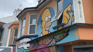Man Didn't Know His New Home Had A Huge Homer Simpson Mural Before Moving In
