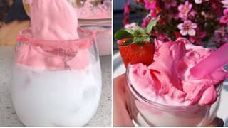 People Are Making Whipped Strawberry Milkshake And Oh My