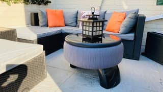 Woman Creates Incredible Garden Furniture Set Using Old Tyres And String