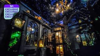 Man Converts His Garage Into Harry Potter Wonderland