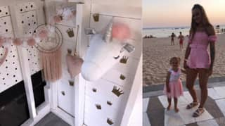 Woman Creates Incredible Playhouse With Dalmatian Interior For Her Daughter