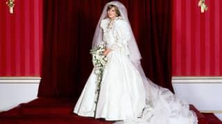 'The Crown' Star Emma Corrin Shares First Look At Princess Diana's Wedding Dress