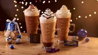 Costa Unveils Christmas Drinks Range Including Quality Street 'Purple One' Latte And Terry's Chocolate Orange Hot Chocolate